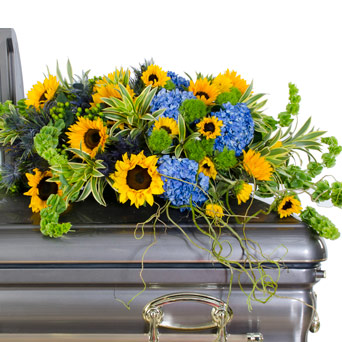 Strength - Full/Half Casket Flowers in Dallas TX, Dr Delphinium Designs & Events