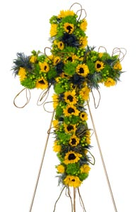 Strength - Cross Flower Spray in Dallas TX, Dr Delphinium Designs & Events