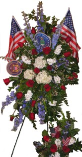 Veteran's Memorial Spray in Lake Charles LA, A Daisy A Day Flowers & Gifts, Inc.
