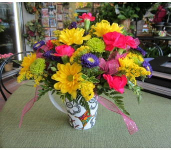 Sorority Mug with Flowers in Lawrence KS, Owens Flower Shop Inc.