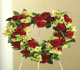 Passionate Red and Green Wreath  in Princeton, Plainsboro, & Trenton NJ, Monday Morning Flower and Balloon Co.