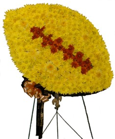 Football Fanatic Standing Spray in Lake Charles LA, A Daisy A Day Flowers & Gifts, Inc.