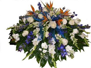 Birds of Wisdom Casket Spray in Lake Charles LA, A Daisy A Day Flowers & Gifts, Inc.