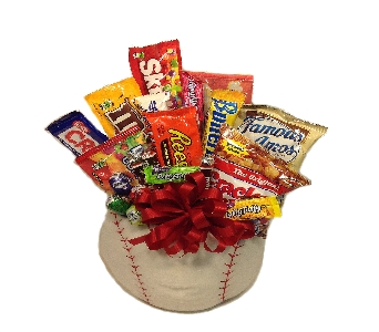 Plush Baseball Candy Bouquet in Columbus OH, OSUFLOWERS .COM
