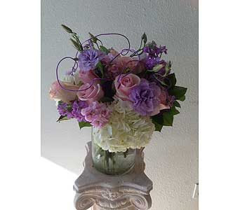 Pink with Lavender in Rancho Palos Verdes CA, JC Florist & Gifts