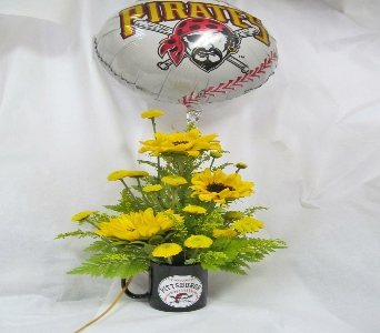 PIRATE MUG in Pittsburgh PA, Harolds Flower Shop