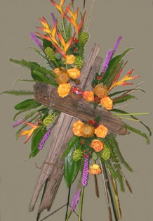 Driftwood Cross Spray in Lake Charles LA, A Daisy A Day Flowers & Gifts, Inc.