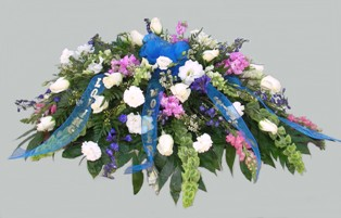 Bashful Blessings Casket Spray in Lake Charles LA, A Daisy A Day Flowers & Gifts, Inc.