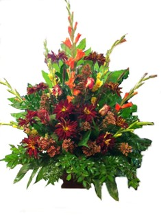 Fall Splendor Arrangement in Lake Charles LA, A Daisy A Day Flowers & Gifts, Inc.