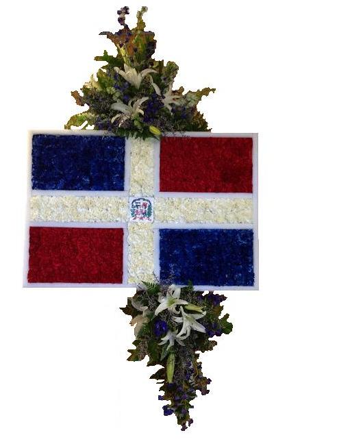 Dominican Flag in Waterbury CT, The Orchid Florist