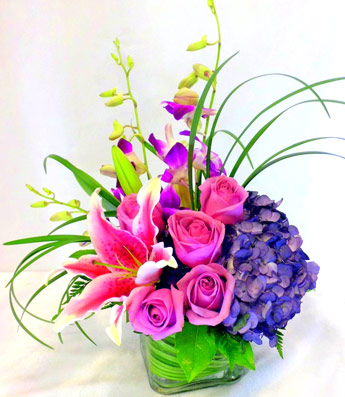 Purples, in Paris in Newport News VA, Pollards Florist