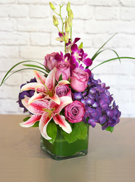 Purples, in Paris in Elmhurst IL, Petal Pushers Florist