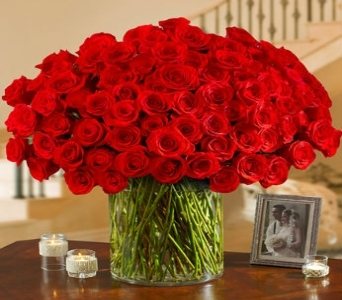 Hundred Roses in All colors in Princeton, Plainsboro, & Trenton NJ, Monday Morning Flower and Balloon Co.