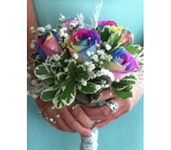 Rainbow Rose bouquet in Johnstown PA, B & B Floral
