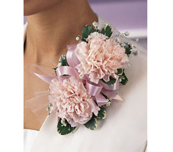 Double Carnation Corsage in Brooklyn NY, Enchanted Florist