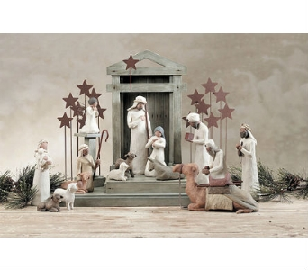Willow Tree 6 piece Nativity in Rantoul IL, A House Of Flowers