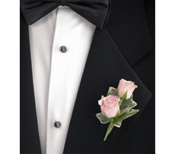 Double Rose Boutonniere in Brooklyn NY, Enchanted Florist