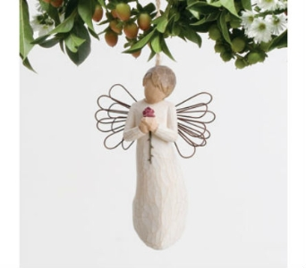 Willow Tree Loving Angel Ornament in Rantoul IL, A House Of Flowers