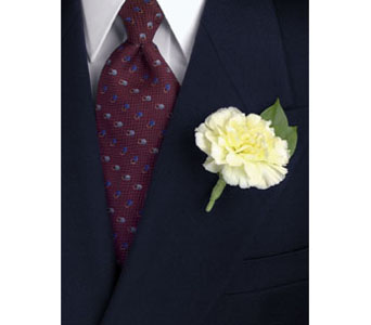 Yellow Carnation Boutonniere in Brooklyn NY, Enchanted Florist