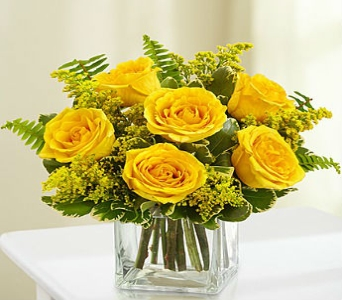 Love's Embrace Roses in Yellow in Manhattan KS, Westloop Floral