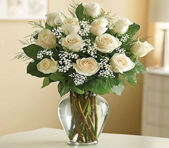 One Dozen White Roses in Manhattan KS, Westloop Floral