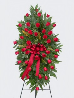 Simply Red Standing Spray in Lake Charles LA, A Daisy A Day Flowers & Gifts, Inc.