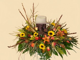 Country Dreams Casket Spray in Lake Charles LA, A Daisy A Day Flowers & Gifts, Inc.