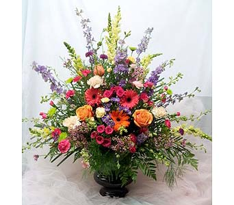 Vibrant Urn Arrangement in New Paltz NY, The Colonial Flower Shop