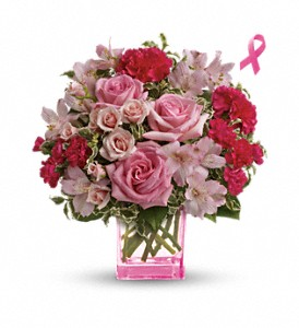 Teleflora's Pink Grace Bouquet in Peoria IL, Flowers & Friends Florist