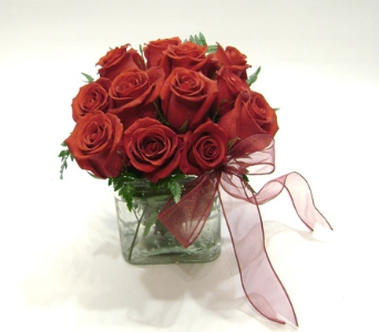 Red Rose Cube in Herndon VA, Herndon Florist, Inc