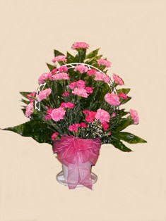 Perfectly Pink Basket in Lake Charles LA, A Daisy A Day Flowers & Gifts, Inc.