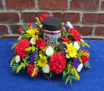 CANDLE CENTERPIECE ARRANGEMENT-for local delivery  in Circleville OH, Wagner's Flowers