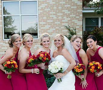 Bride and her BFF''s in Middletown DE, Forget Me Not Florist & Flower Preservation
