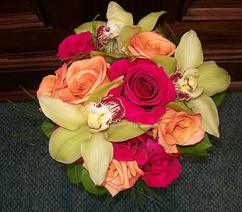 Orchid and Rose Bouquet in Middletown DE, Forget Me Not Florist & Flower Preservation