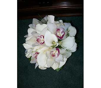 Orchid and Calla Bouquet in Middletown DE, Forget Me Not Florist & Flower Preservation