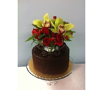 Guiness Stout cake with flowers in Portland OR, Portland Florist Shop