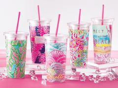 Lilly Pulitzer Acrylic Tumbler with Straw in Knoxville TN, The Flower Pot
