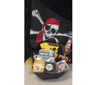 Pittsburgh Pirate Basket for Men in McKees Rocks PA, The Flowersmith