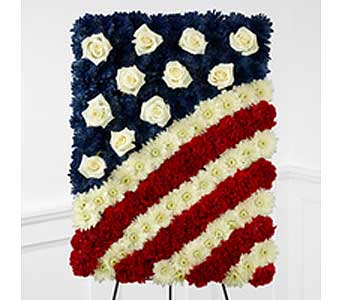 Patriotic Floral Tribute in New Paltz NY, The Colonial Flower Shop