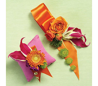 Orange Wedding 32 in Albuquerque NM, Silver Springs Floral & Gift
