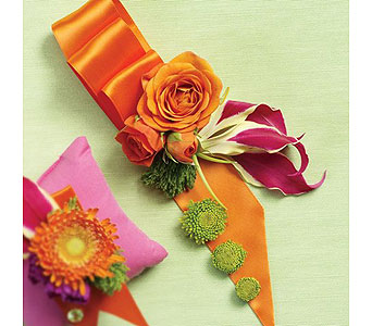 Orange Wedding 34 in Albuquerque NM, Silver Springs Floral & Gift