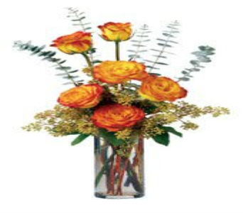 Fall Rose Bouquet in Big Rapids, Cadillac, Reed City and Canadian Lakes MI, Patterson's Flowers, Inc.
