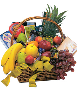 Fruit and Gourmet Basket by Hoogasian Flowers in San Francisco CA, Hoogasian Flowers