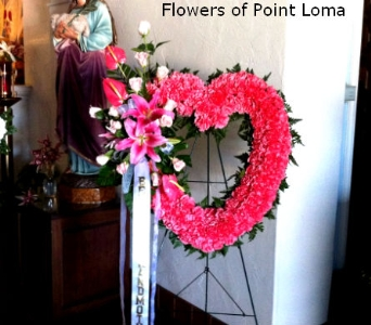 Pink open heart in San Diego CA, Flowers Of Point Loma