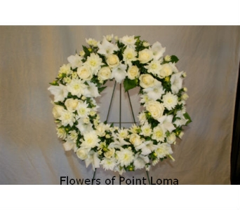 White Wreath in San Diego CA, Flowers Of Point Loma