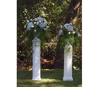 Wedding Urns with Hydrangeas in Vacaville CA, Pearson's Florist