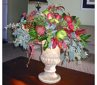 Fall Harvest Arrangement with Apples in Vacaville CA, Pearson's Florist