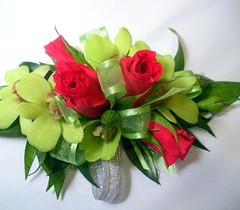 Kiwi Passion Wrist Corsage in Detroit and St. Clair Shores MI, Conner Park Florist