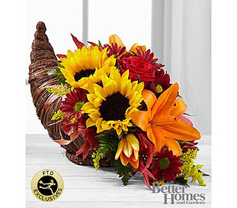 The FTD� Fall Harvest� Cornucopia by Better Homes and Gardens� in Pompano Beach FL, Pompano Flowers 'N Things