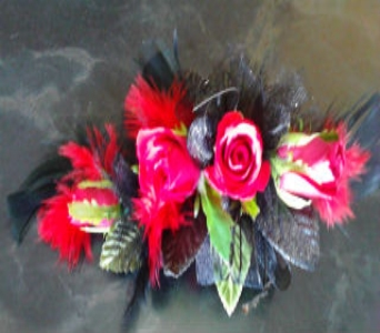 Sweetheart and feather Corsage in Milford OH, Jay's Florist